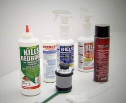 bedbug kit containing products required to  get rid of bed bugs