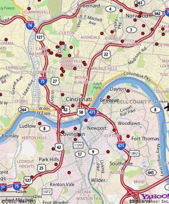 Cincinnati bed bug map