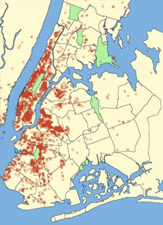 New York Bed Bugs Incidence Map